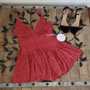 Princess Polly Red Dress/Romper Size 10